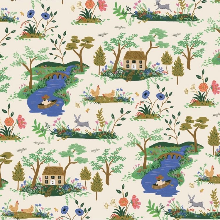 Cotton + Steel English Garden by Cotton + Steel/Rifle Paper Co. Garden Toile Cream