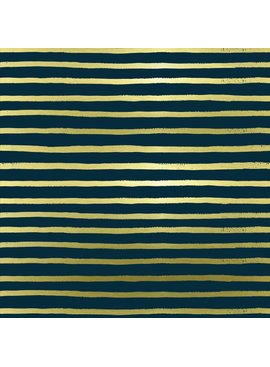 Cotton + Steel English Garden by Cotton + Steel/Rifle Paper Co. Stripes Navy