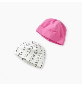 Tea Collection tea collection hat two-pack - baby geo paperwhite