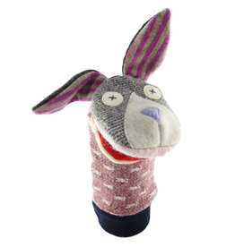 Cate & Levi cate & levi wool animal puppet - bunny