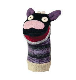 Cate & Levi cate & levi wool animal puppet - cow