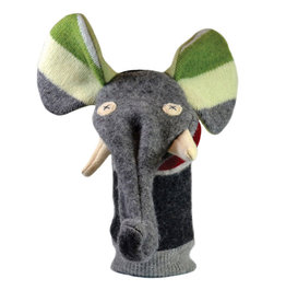 Cate & Levi cate & levi wool animal puppet - elephant