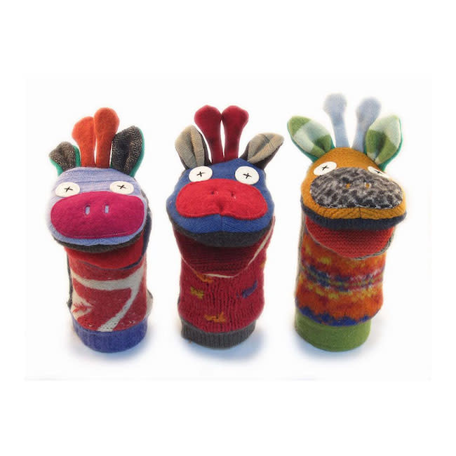 Cate & Levi cate & levi wool animal puppet - giraffe