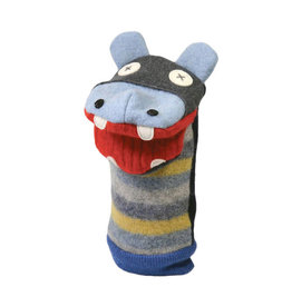 Cate & Levi cate & levi wool animal puppet - hippo