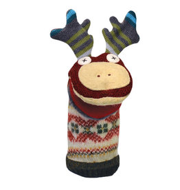 Cate & Levi cate & levi wool animal puppet - moose