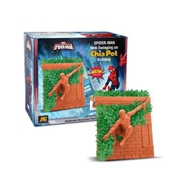 Chia chia pet marvel ultimate spiderman - spiderman on chia building