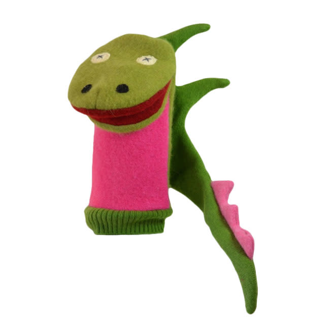 Cate & Levi cate & levi wool animal puppet - dragon