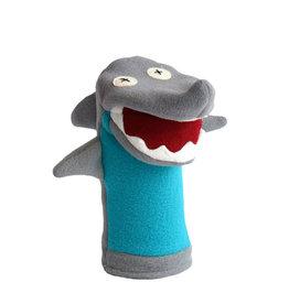 Cate & Levi cate & levi softy fleece puppet - shark