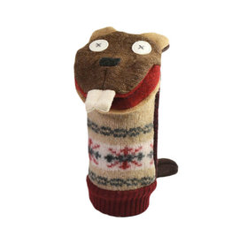 Cate & Levi cate & levi wool animal puppet - beaver