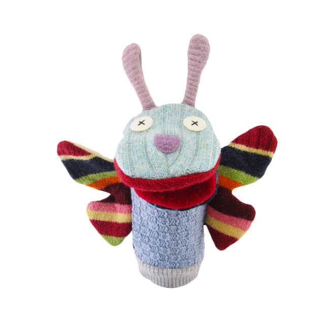 Cate & Levi cate & levi wool animal puppet - butterfly