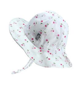 Twinklebelle twinklebelle UPF 50 cotton floppy sun hat - cherries
