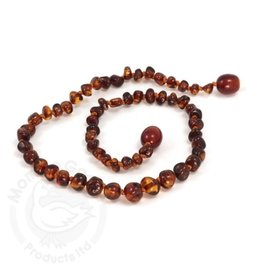 Momma Goose momma goose amber baby necklace - cherry baroque