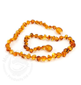 Momma Goose momma goose amber baby necklace - honey baroque