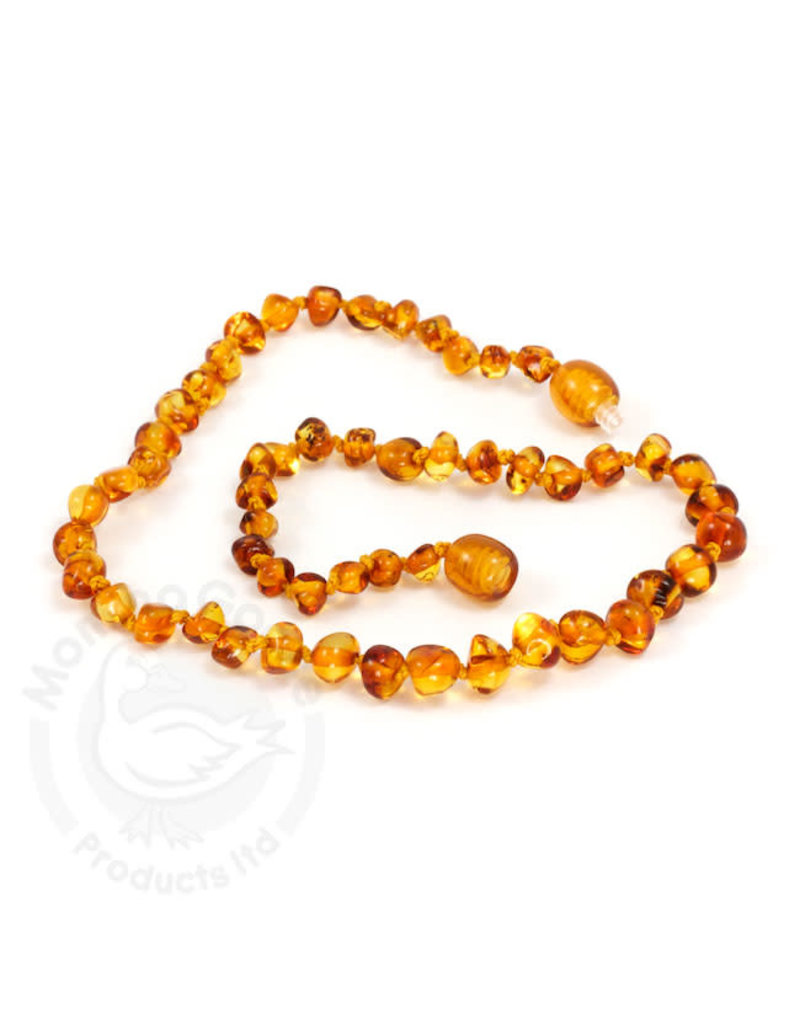 Momma Goose momma goose honey amber baby necklace