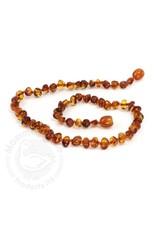Momma Goose momma goose amber baby necklace - cognac baroque