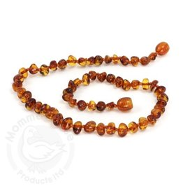 Momma Goose momma goose cognac amber baby necklace