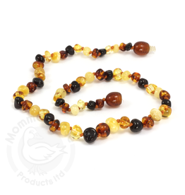 Momma Goose momma goose multi amber baby necklace