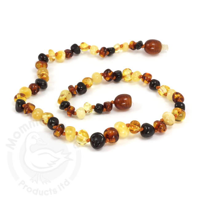 Momma Goose momma goose amber baby necklace - multi baroque