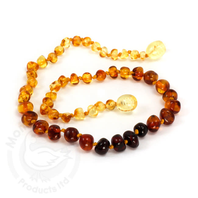 Momma Goose momma goose rainbow amber baby necklace