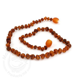 Momma Goose momma goose raw cognac amber baby necklace