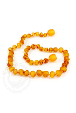 Momma Goose momma goose amber baby necklace - raw honey baroque