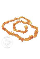 Momma Goose momma goose amber baby necklace - raw honey olive/baroque