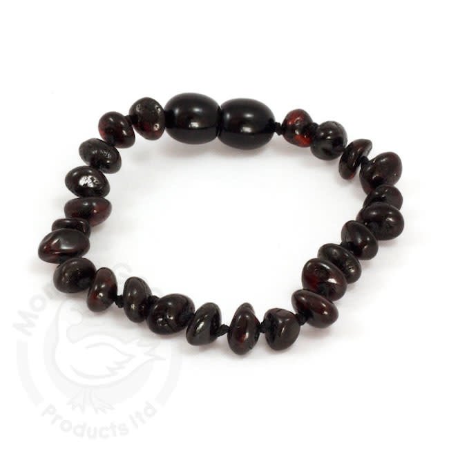 Momma Goose momma goose amber baby bracelet - cherry baroque 5.5 inch