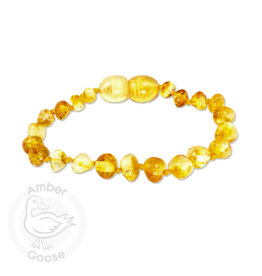 "Momma Goose momma goose limone amber baby bracelet 5.5"""