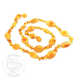 Momma Goose momma goose honey hen + chicks amber baby necklace