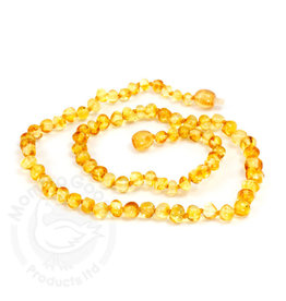 Momma Goose momma goose amber adult necklace - lemon baroque 21 inch