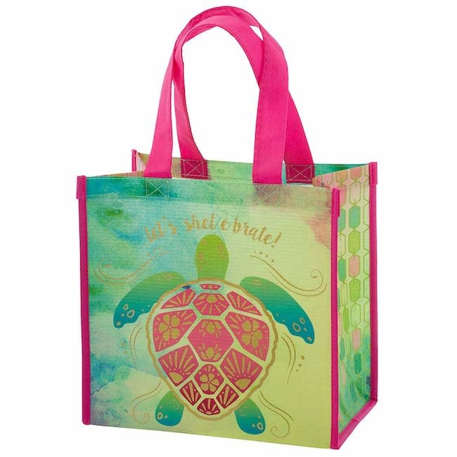 Karma karma recycled medium gift bag - sea turtle
