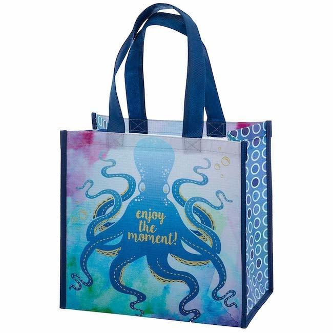 Karma karma recycled medium gift bag - octopus