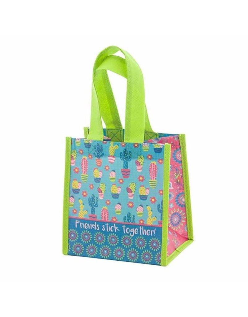 Karma karma recycled small gift bag - cactus