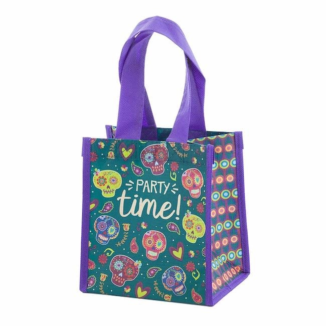 Karma karma recycled small gift bag - sugar skull