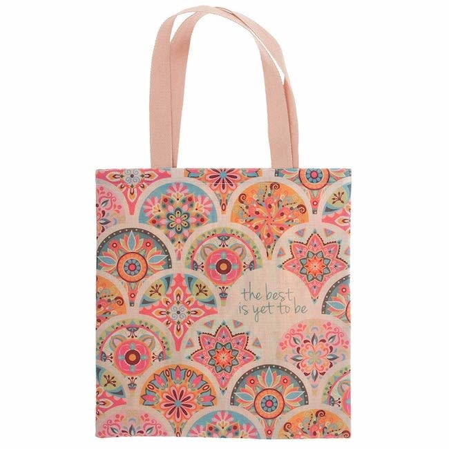 Karma karma recycled market tote - pink medallion