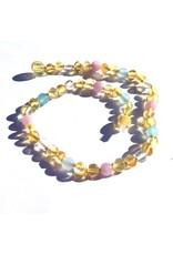 Momma Goose momma goose wild lemon amber + gemstone baby necklace