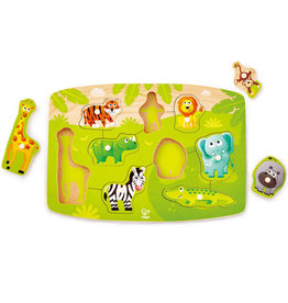 Hape Toys hape toys jungle wooden peg puzzle
