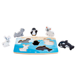 Hape Toys hape toys polar animal wooden tactile puzzle