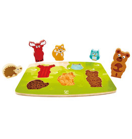 Hape Toys hape toys forest animal wooden tactile puzzle