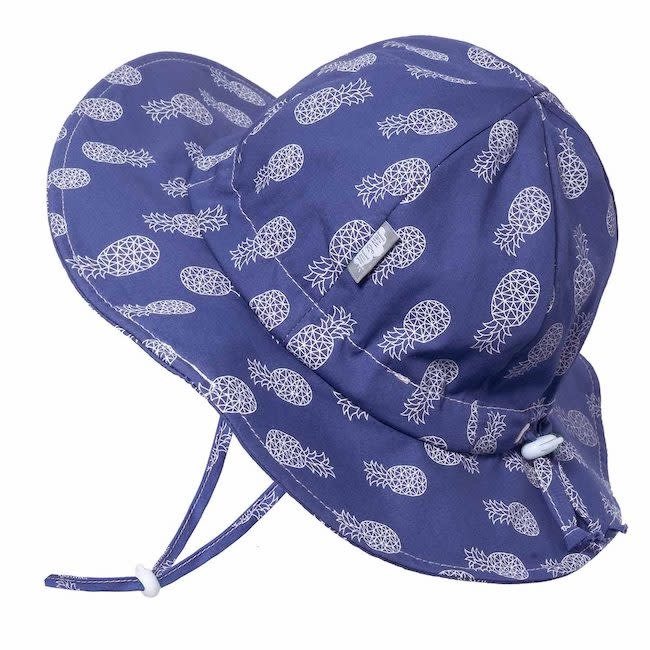 Twinklebelle twinklebelle UPF 50 cotton floppy sun hat - geo pineapple