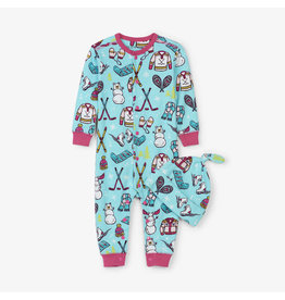 Hatley hatley winter traditions baby coverall + hat