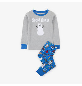 Hatley hatley navy winter traditions applique kids pajama set