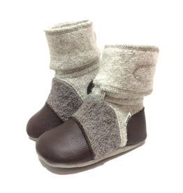 Nooks Design nooks design felted wool booties - driftwood