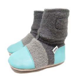 Nooks Design nooks design felted wool booties - lagoon