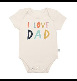 Finn & Emma finn and emma graphic bodysuit - i love dad