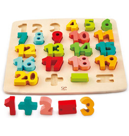 Hape Toys hape toys chunky numbers math wooden puzzle
