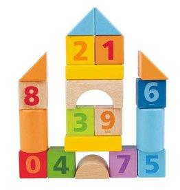 Hape Toys hape toys count 'n build 20 piece block set