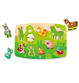 Hape Toys hape toys farmyard wooden peg puzzle