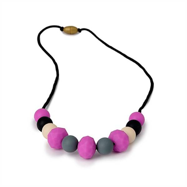 Chewbeads chewbeads chelsea silicone teething necklace - fuchsia multi