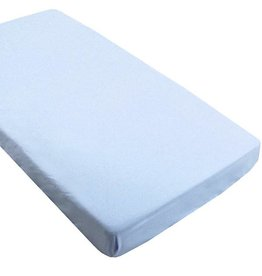 Kushies Baby kushies baby flannel fitted crib sheet - blue